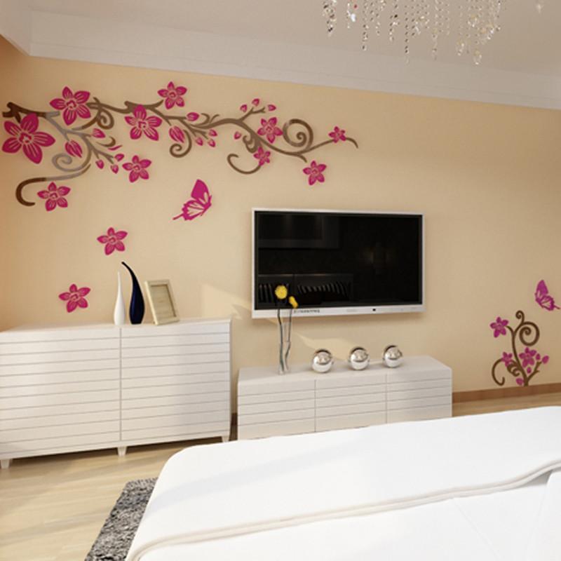 电视沙发影视背景墙装饰贴 亚克力立体墙贴 客厅卧室房间墙面装饰品