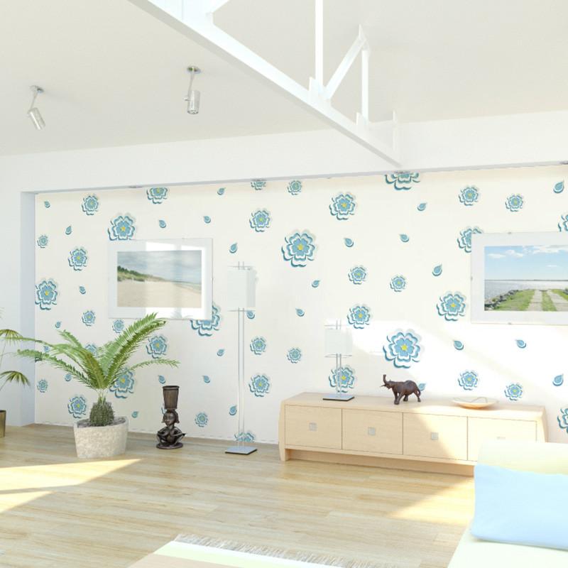 立体自粘墙纸 小花壁纸 客厅卧室电视背景墙装饰贴 防水装饰贴-xqz