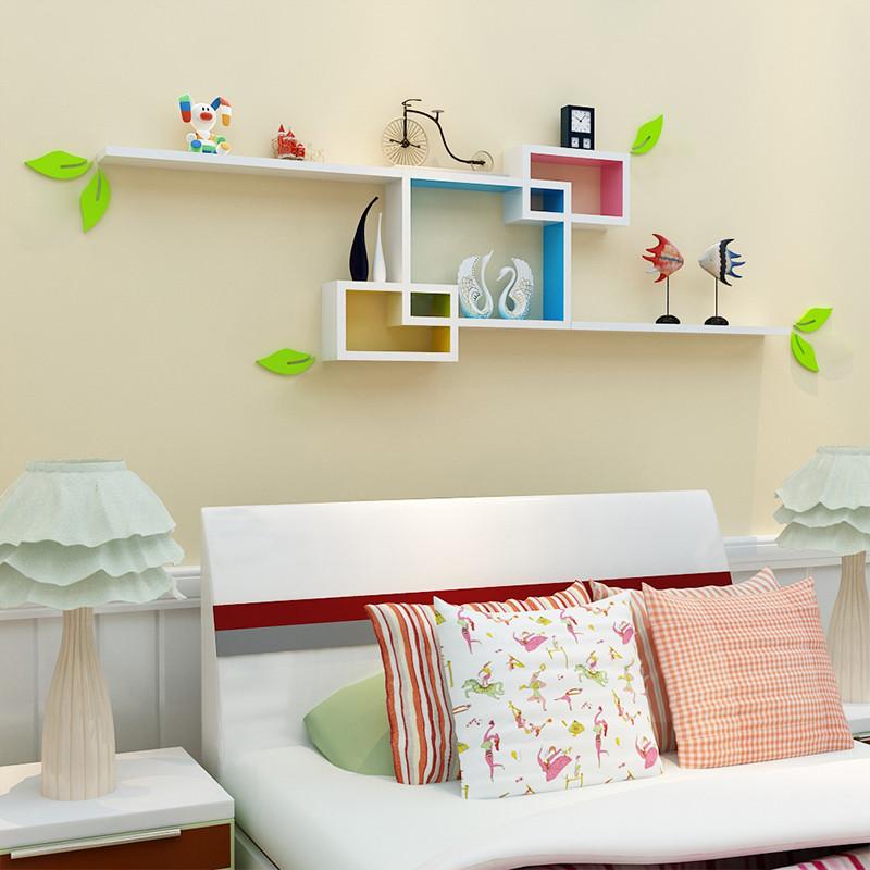 置物架 墙壁挂墙柜隔板 客厅电视背景墙装饰架 创意格子书架 墙面墙上