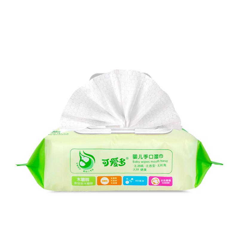 可爱多婴儿手口柔湿巾80片(盖)*4包