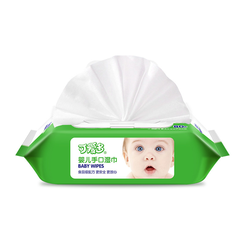 可爱多婴儿手口湿巾80抽*2包带盖