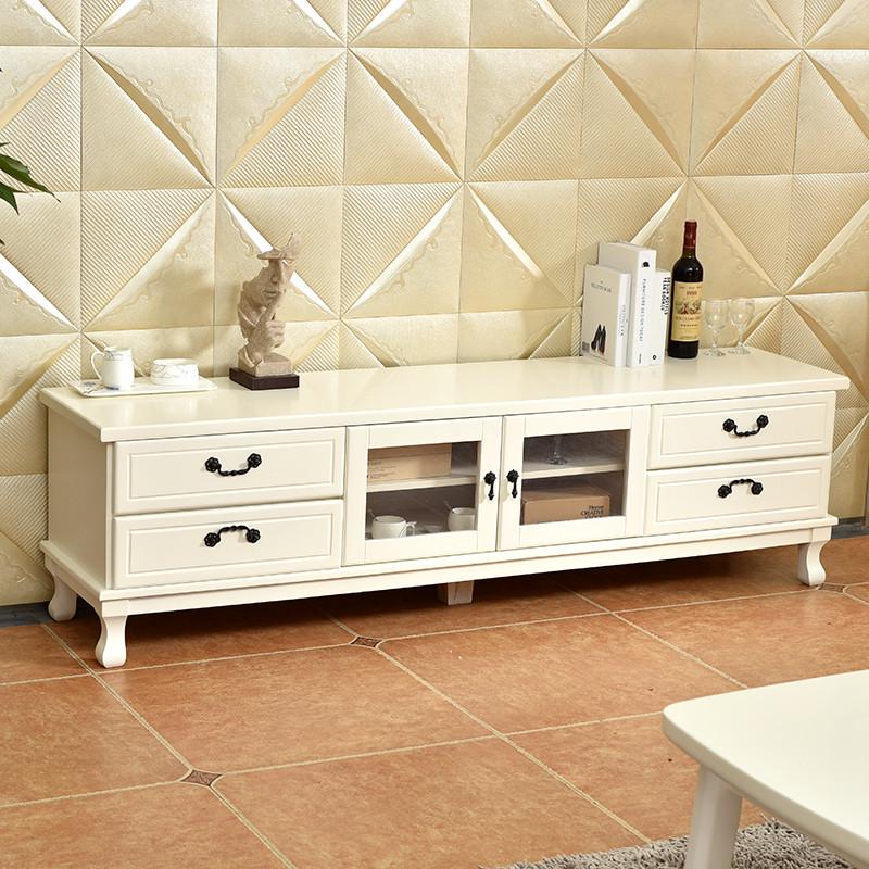 楚象欧式新古典实木电视柜茶几组合现代简约地中海美式电视机柜图片