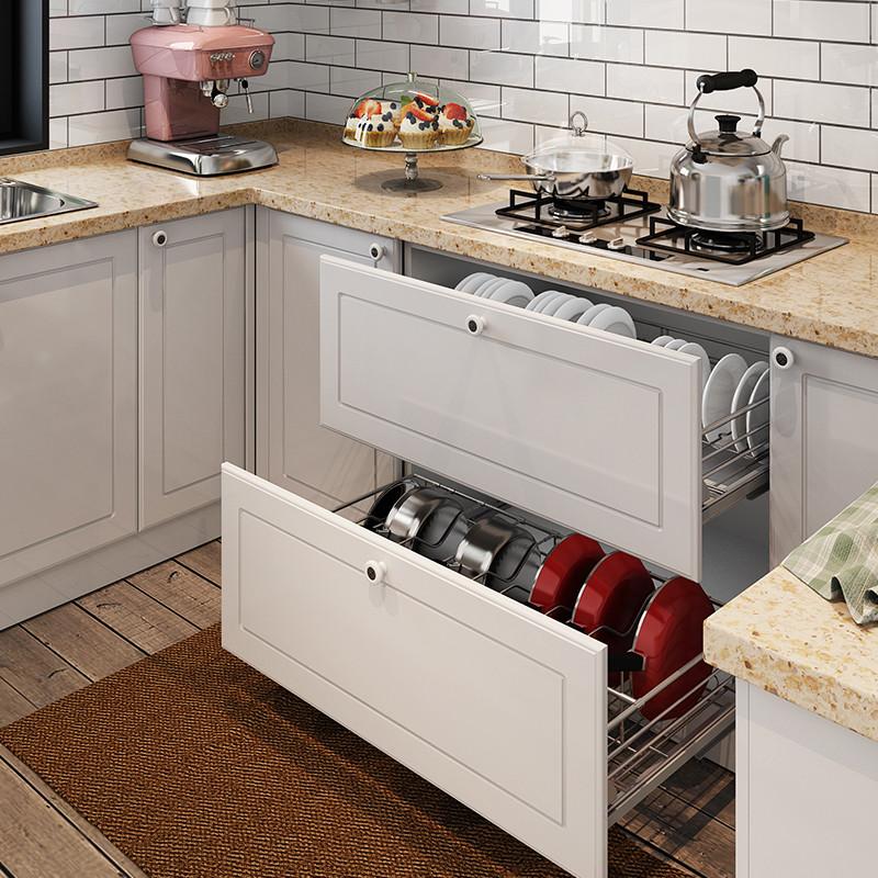 ik 品质厨房 欧式田园 地中海风格 整体橱柜定制 一字型图片