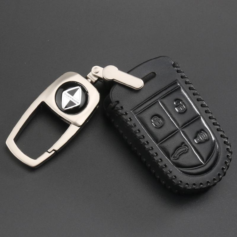 曼迪宝沃bx5 bx7钥匙包 汽车用品改装专用 智能遥控真皮钥匙套壳扣男