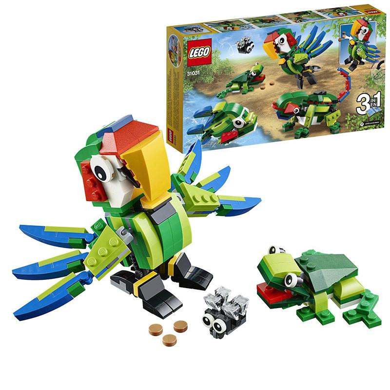 正版乐高lego拼插积木创意百变雨林动物拼装积木玩具31031 6岁