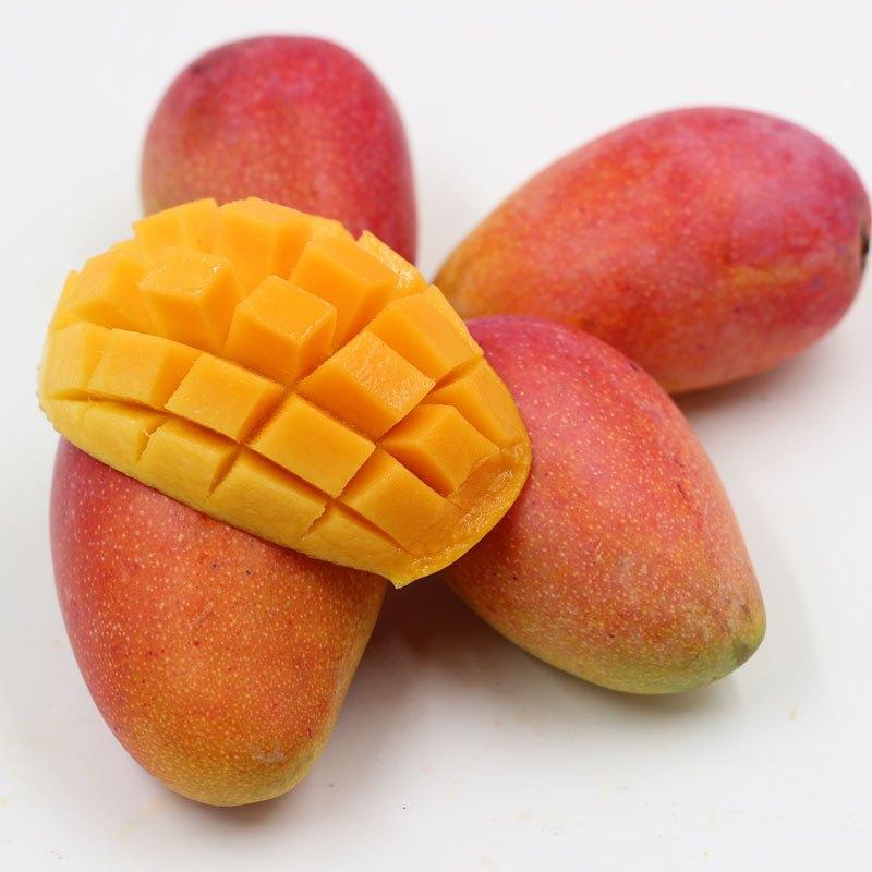 海南三亚小贵妃芒果 新鲜热带水果 红金龙5斤特价包邮图片