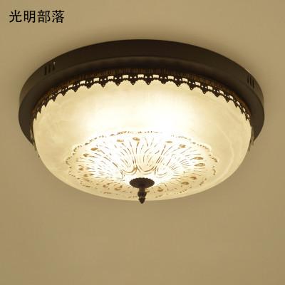 光明部落现代简约led实木吸顶灯长方形创意灯具北欧