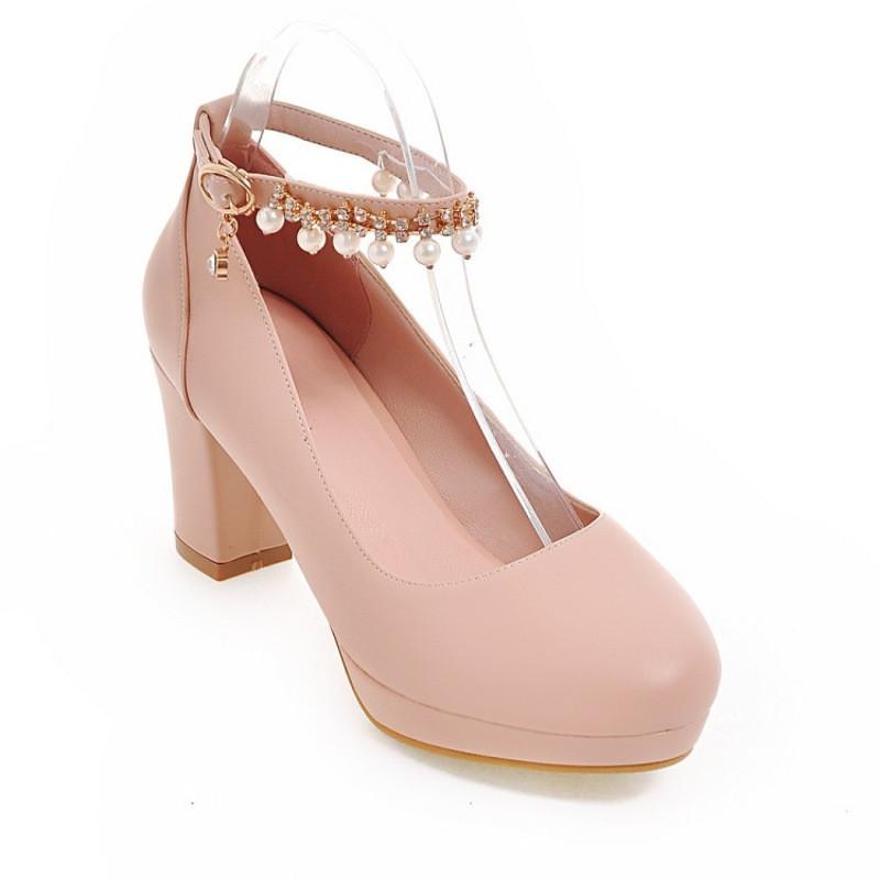 小女孩公主鞋女童皮鞋水钻串珠礼服高跟鞋女童鞋中大童舞蹈鞋