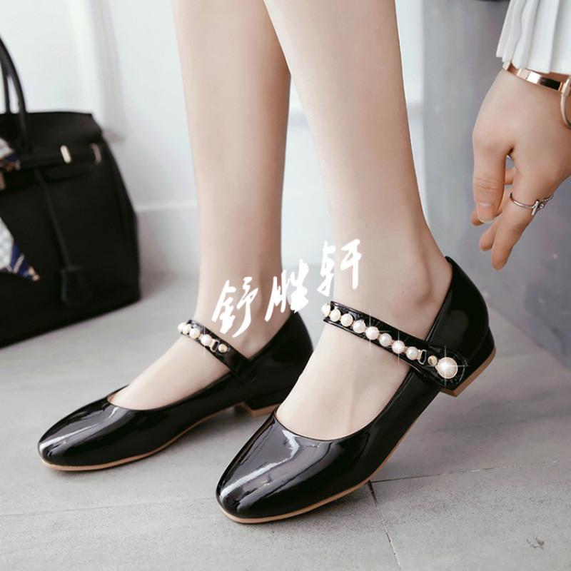 女童皮鞋公主鞋春季韩版女孩鞋子小学生白单鞋黑色表演出儿童鞋