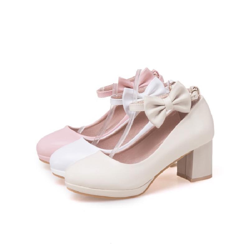 韩版女童舞蹈鞋小女孩大童儿童高跟鞋2018春季串珠童鞋表演公主鞋