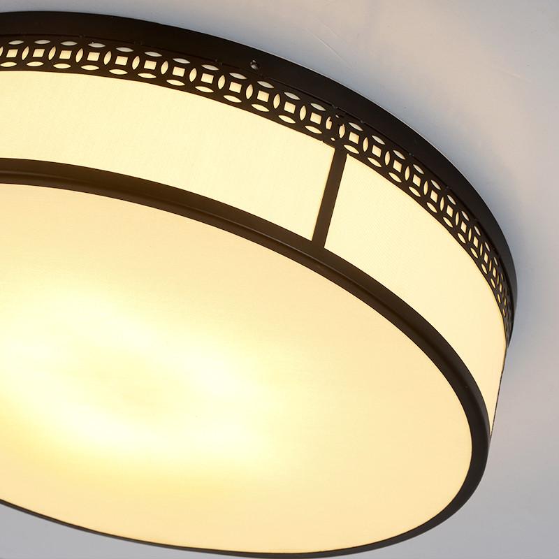 简约现代新中式led吸顶灯洒店客厅灯具温馨卧室灯书房圆形灯饰图片
