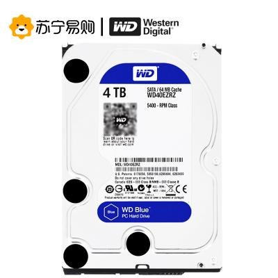 西部数据(WD)蓝盘 4TB SATA 6Gb/s 64MB台式机械硬盘5400转 (WD40EZRZ)