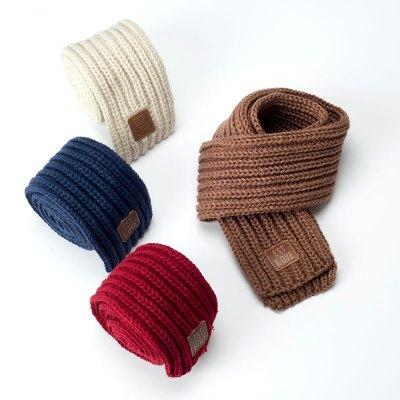 2018新款儿童秋冬季宝宝保暖围巾韩国针织毛线男童女童小围巾围脖