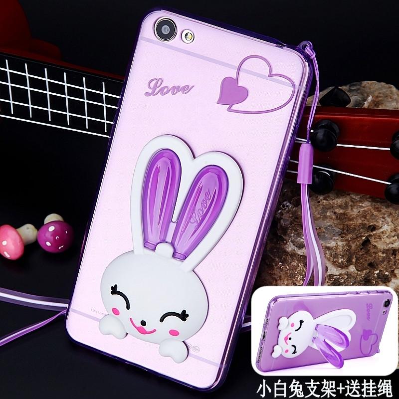 luphie 兔支架vivox7手机壳vivo x7plus手机套x7挂绳硅胶软透明防摔女