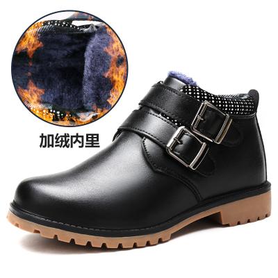 能酷男童棉鞋2019冬季新款潮加絨加厚大童保暖兒童冬鞋子男孩真皮童鞋