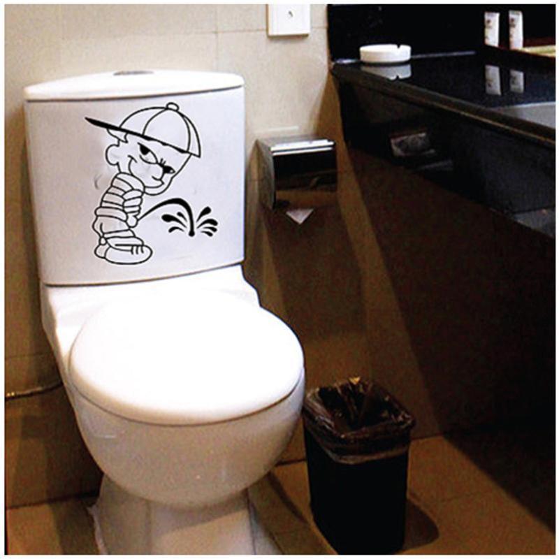 宜佳蕙可爱卡通小便男孩马桶贴 浴室卫生间搞笑可移除