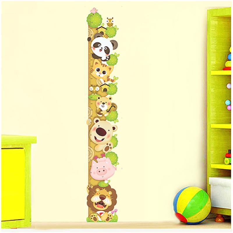 宜佳蕙可移除儿童房幼儿园早教所卡通可爱小动物爬树身高贴宝宝房测量