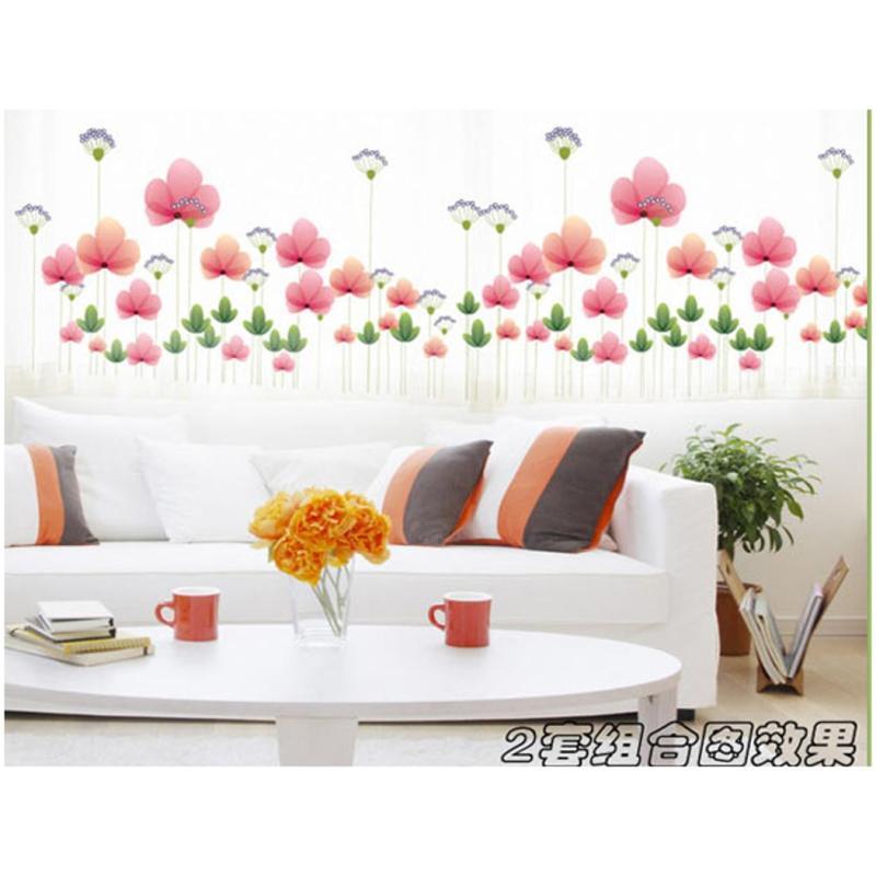 宜佳蕙花卉墙贴纸创意墙壁橱窗贴画客厅卧室背景风景温馨床头浪漫墙花