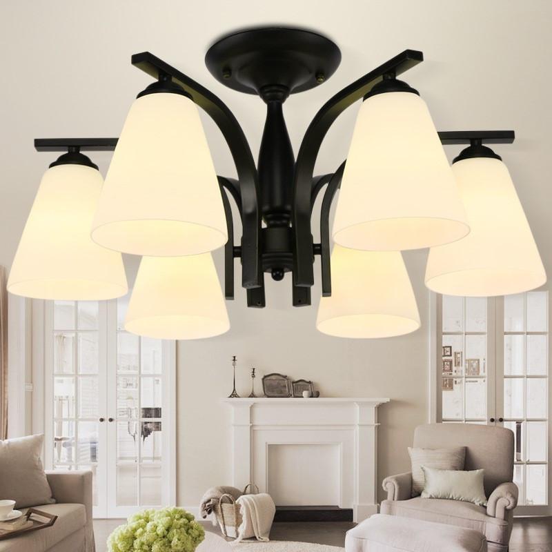 欧耐克 美式乡村吸顶灯现代简约客厅灯温馨主卧室灯北欧餐厅个性玻璃图片