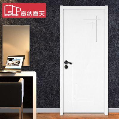 塞納春天簡約室內門臥室門木門套裝門實木復合烤漆門型號297 實木復合烤漆門