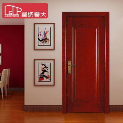 塞納春天實木門造型門室內套裝門烤漆房門臥室門歐式風格型號038