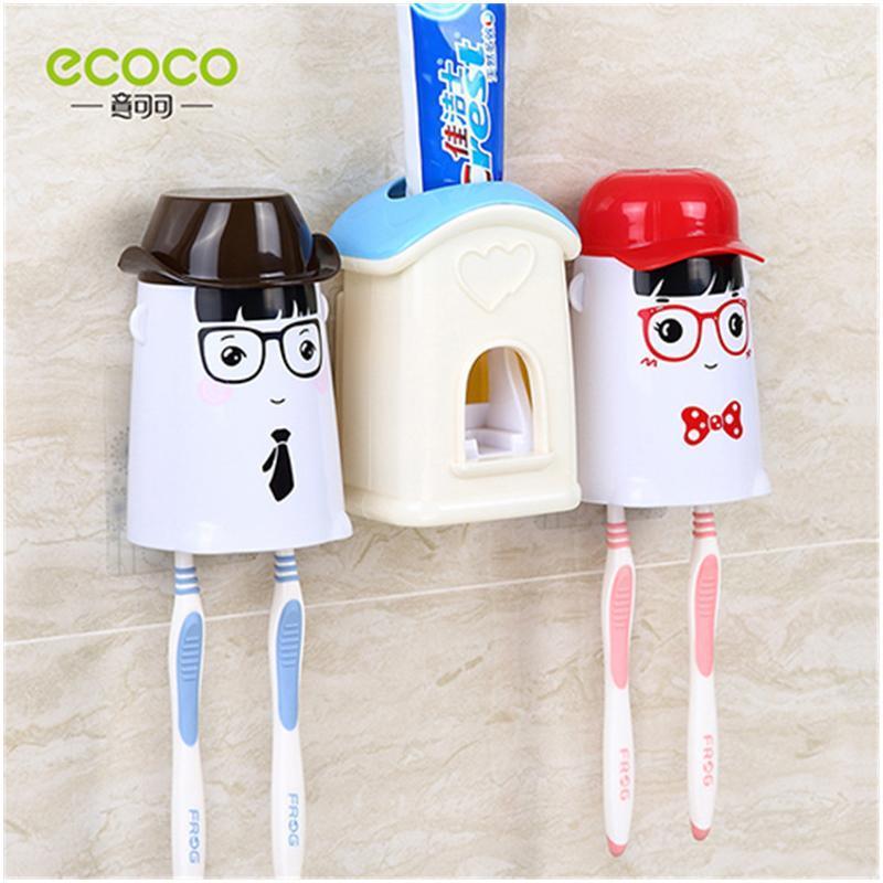振兴 可爱的小屋洗漱套装自动挤牙膏 防尘漱口杯 情侣