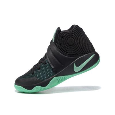 耐克男鞋2016冬季新款低帮欧文2代实战运动篮球鞋 黑薄荷绿 45码图片