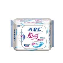 【满199-100】ABC超吸棉柔护垫163mm*22片