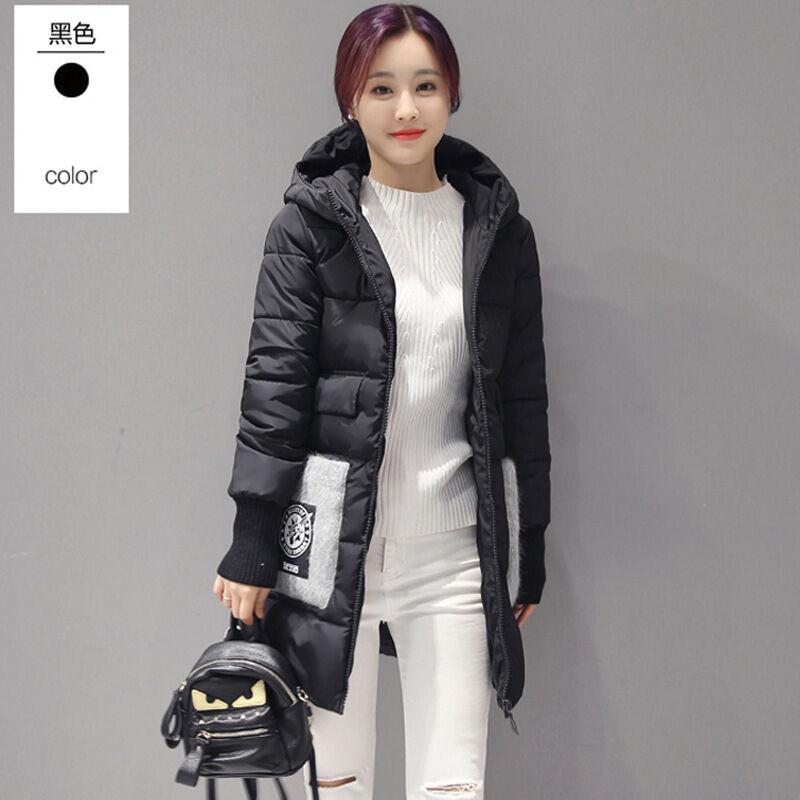 瑜璟秋冬季新款长袖棉服女韩版中学生修身显瘦中长款女装加厚棉衣外套图片