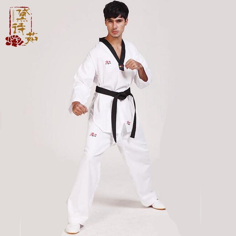 运动户外 夏季跆拳道服男女长裤道服教练服儿童道服套装