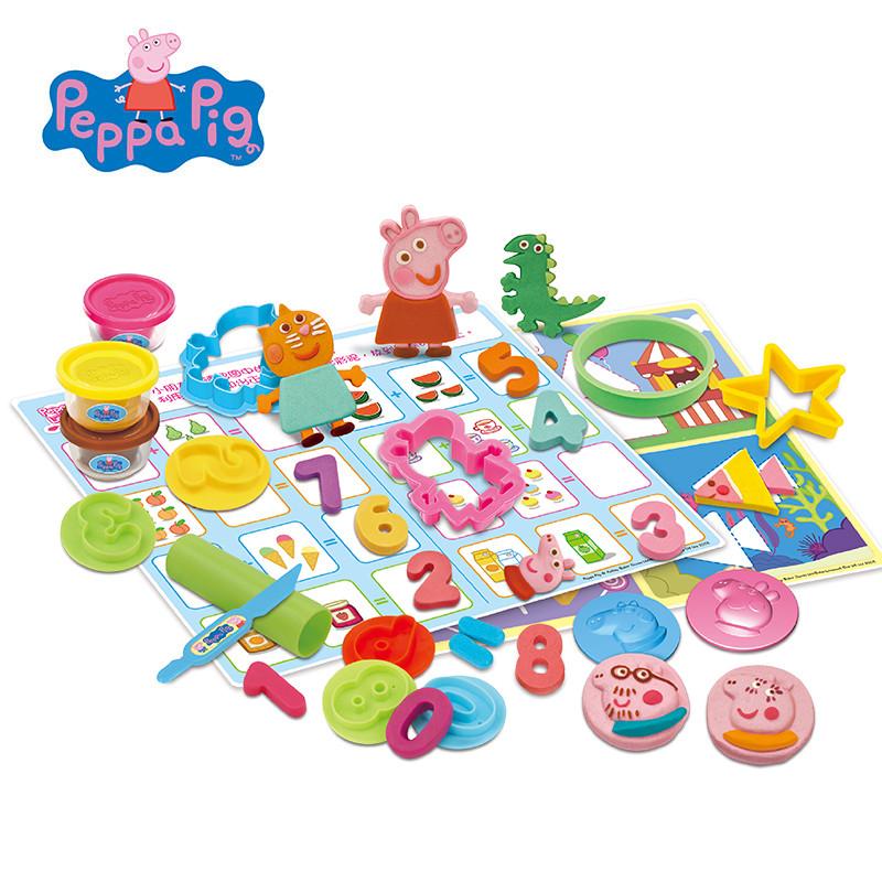 小猪佩奇玩具 超轻粘土彩泥橡皮泥套装 儿童无毒diy蛋糕手工食玩黏土