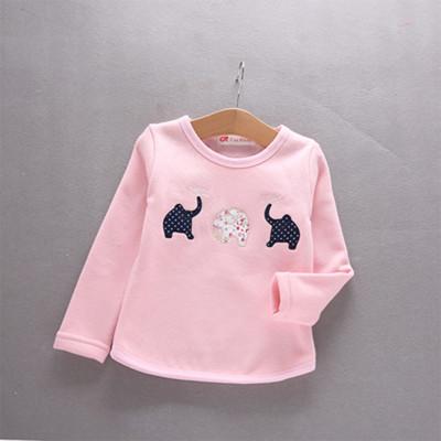 小龙王2016童装冬季韩版女童上衣套头卡通可爱加绒长袖保暖卫衣打底衫