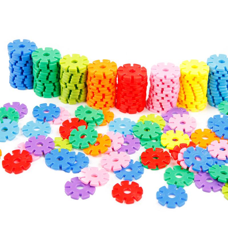 巧之木 积木玩具 雪花片1200片桶装塑料立体拼插拼图图片