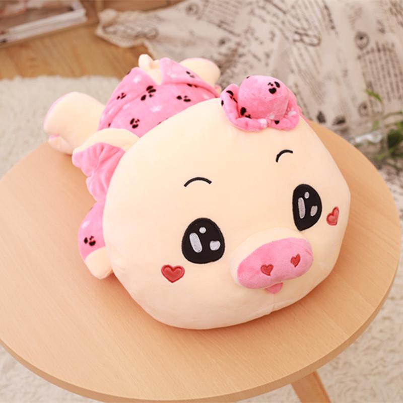 毛绒玩具猪求爱猪可爱大号睡觉抱枕公仔趴趴猪猪玩偶生日礼物女孩