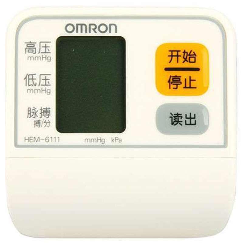 欧姆龙电子血压计血压仪hem-6111 (手腕式)智能加压