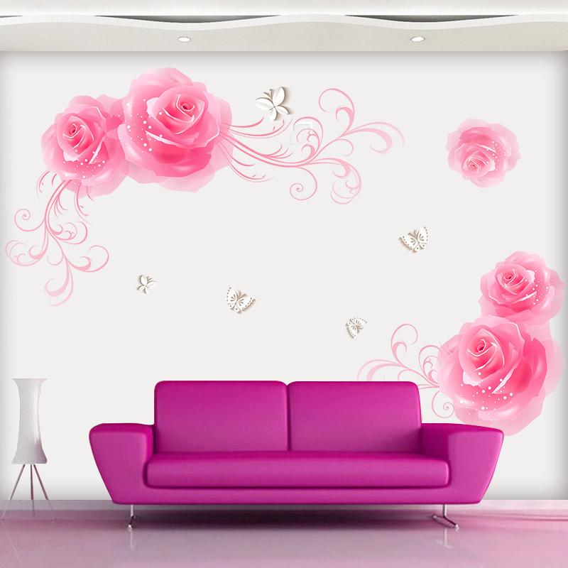 客厅卧室装饰墙贴画 电视背景墙贴画贴纸 墙面墙壁装饰可移除贴花
