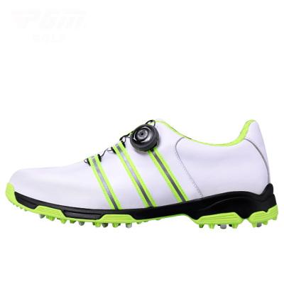 高尔夫真皮运动鞋子 旋转鞋带透气防水防侧滑高尔夫球鞋