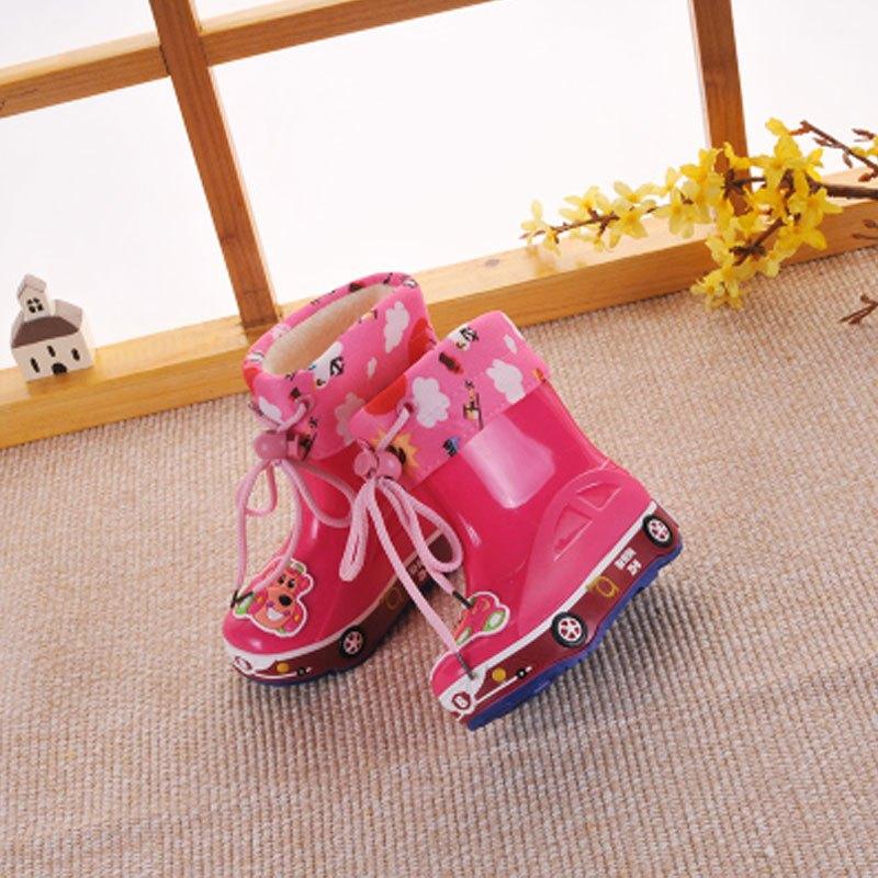 儿童雨鞋男童女童宝宝防滑雨靴幼儿水鞋小童中童小孩.
