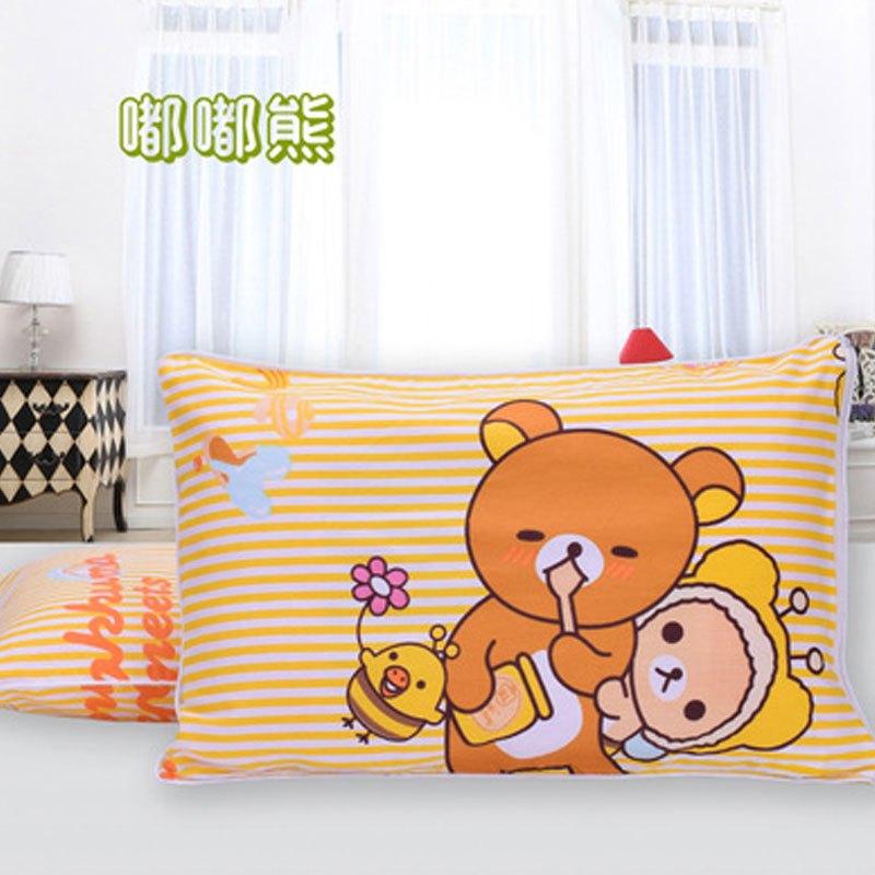 枕芯 枕套 儿童枕头1-3-6岁幼儿园宝宝定型枕 护颈防偏头卡通2017新品