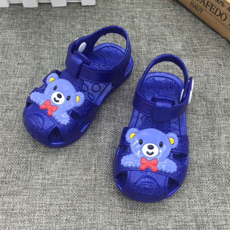 塑料凉鞋软底卡通宝宝婴儿学步防滑男女童凉拖鞋可爱卡通夏天凉鞋夏天