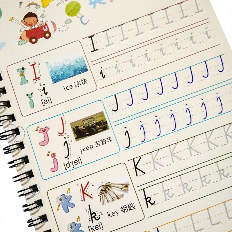 幼儿园学前26个英文字母描红练习本凹槽字帖儿童小学生英语练字帖当季