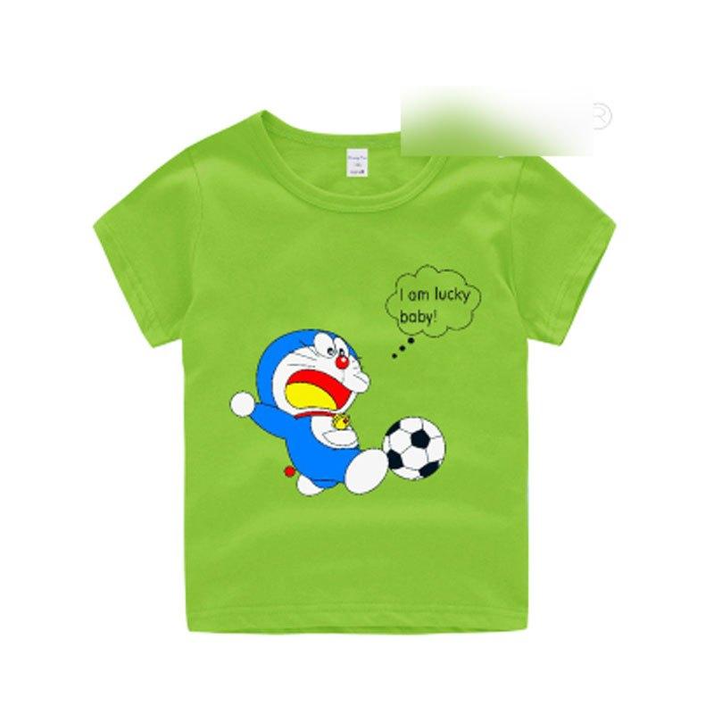 韩版可爱卡通印花儿童短袖t恤上衣2017夏季新款潮圆领套头半袖衫男女