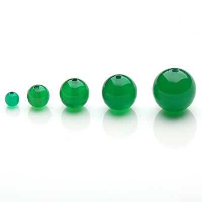 帛蘭梓韻 天然綠玉髓散珠 原創DIY飾品10mm圓珠手工串珠子半成品配珠
