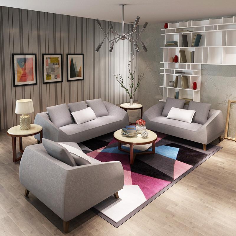 马氏皇庭北欧小户型单人双人三人布艺沙发可拆洗客厅现代简约沙发