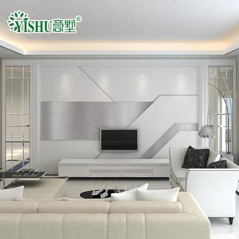 客厅3d电视背景墙装饰墙砖微晶石客厅大理石简欧造型边框影视墙背景墙
