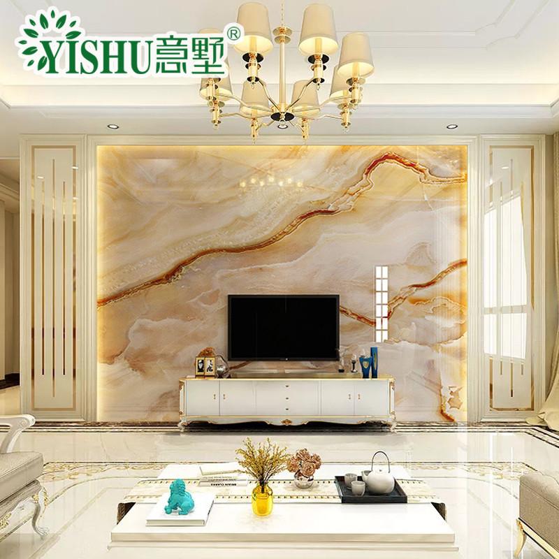 微晶石电视背景墙瓷砖大理石新中式简约客厅3d影视墙造型瓷砖背景墙