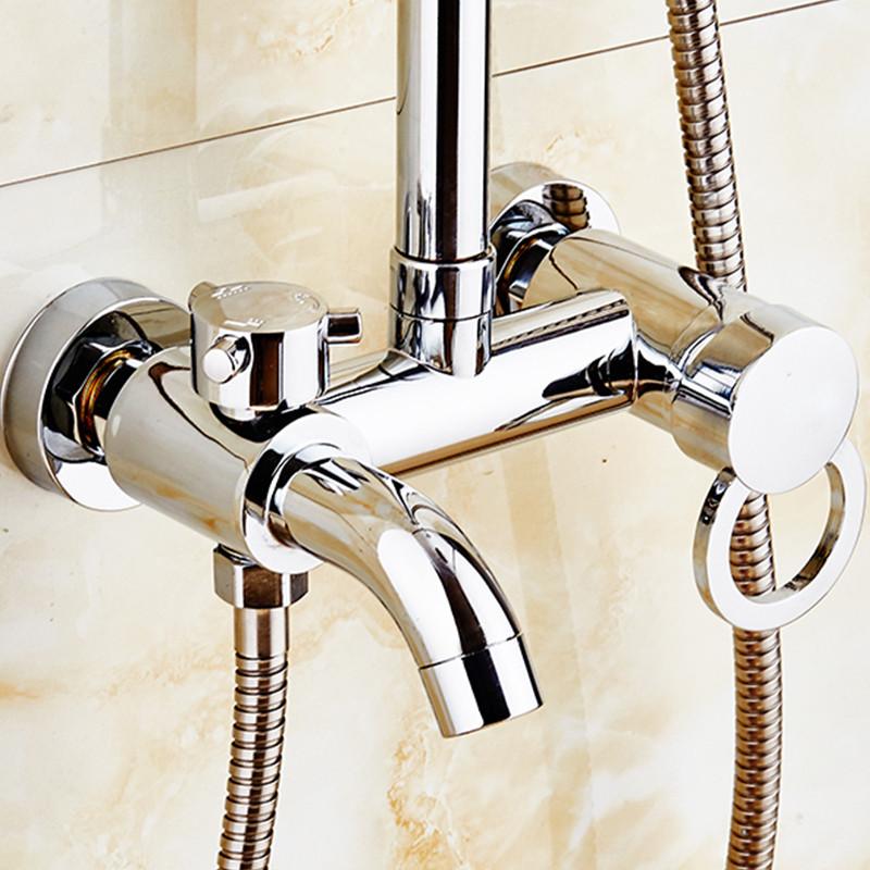 迪斯里克 三档混水阀冷热水龙头 浴室浴缸暗装淋浴龙头9x6j3