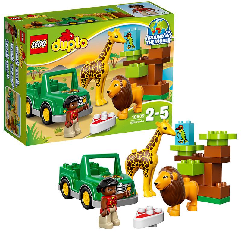 lego乐高 益智拼插积木玩具 得宝大颗粒 草原动物10802 男孩礼物