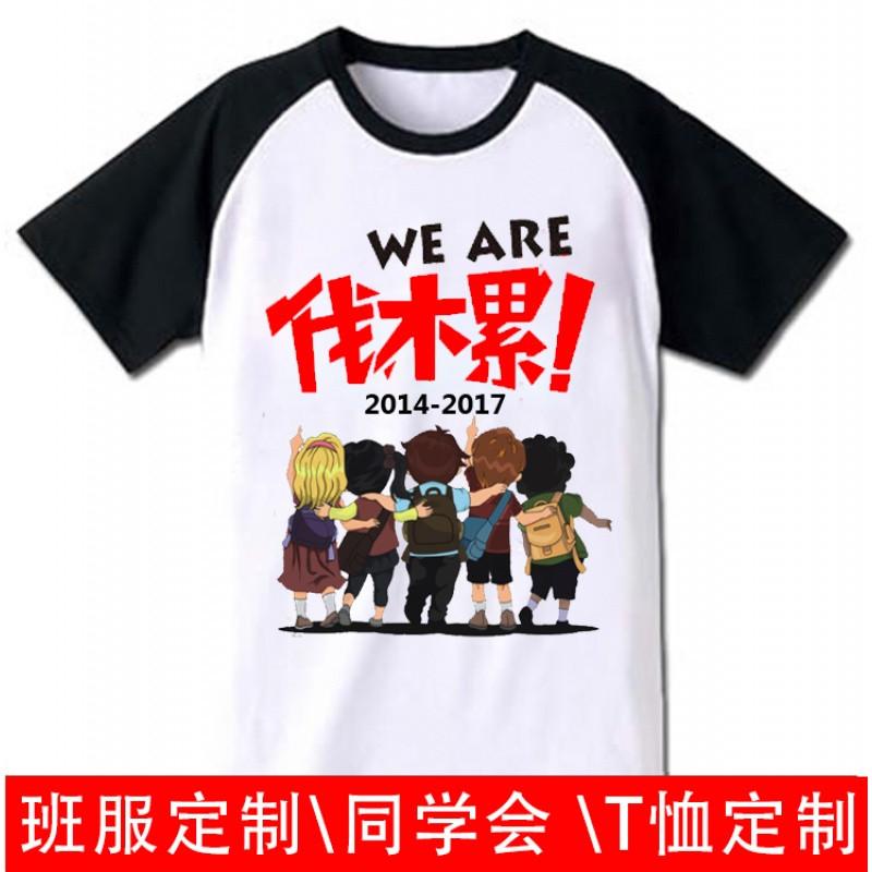 624款毕业班服定制t恤同学会聚会diy印字logo短袖纯棉