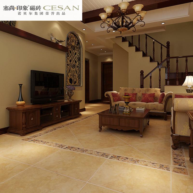 诺贝尔瓷砖塞尚印象仿古亚光砖阳台客厅卧室地砖600x600cn66207